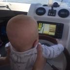 Guttas første båttur